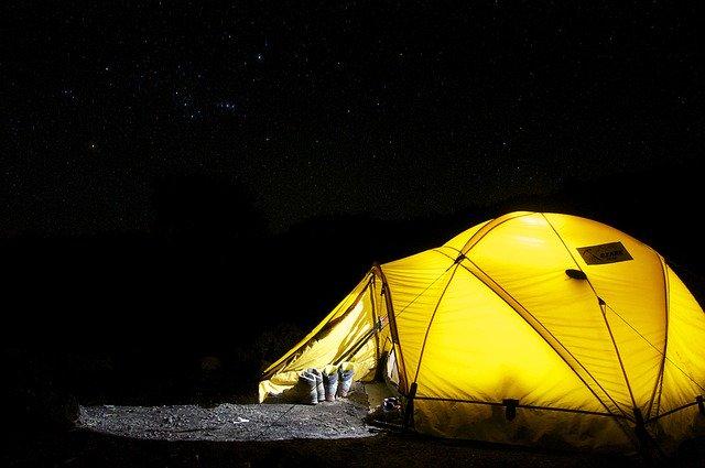 tent camping night gear