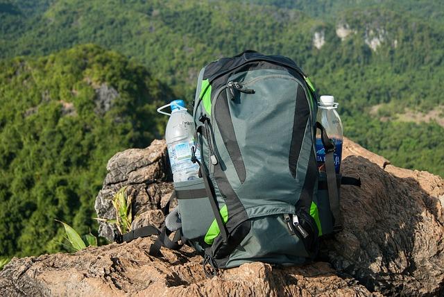 Water backpack gear hiking