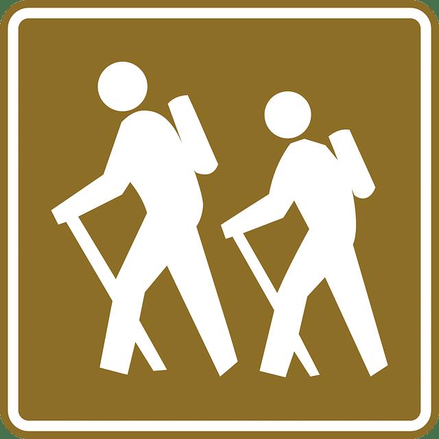 Hiking Sign Trekking Poles