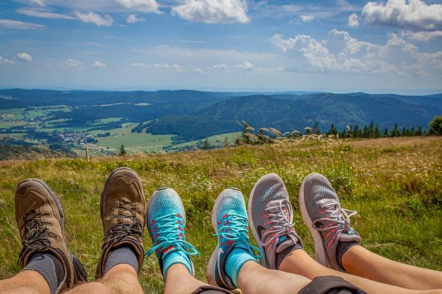 Group hiking trail Outdoors