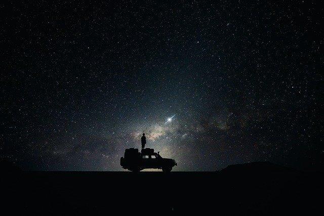 night camping stars