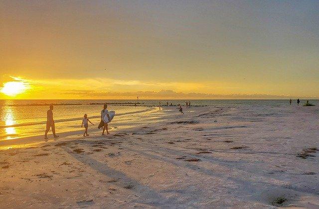 Beach camping Florida Ocean