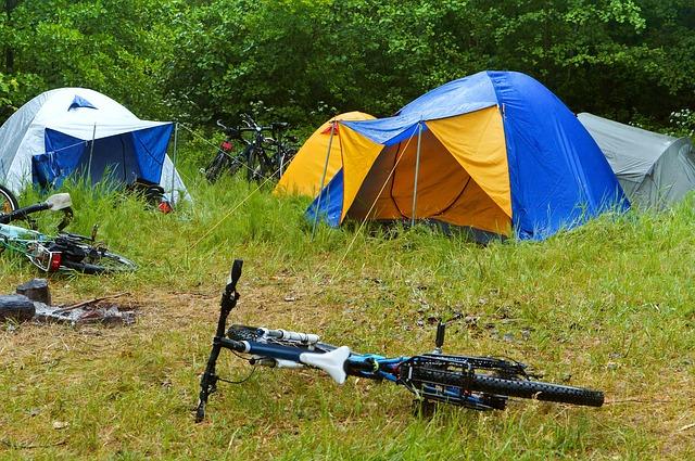 Camping rain bikes tents