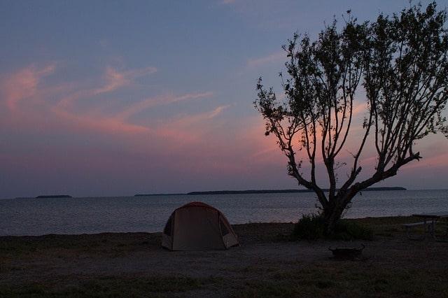 camping everglades Florida tent