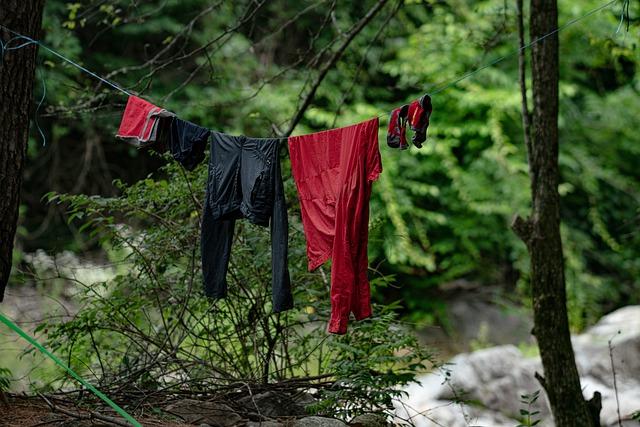Clothes camping rain gear