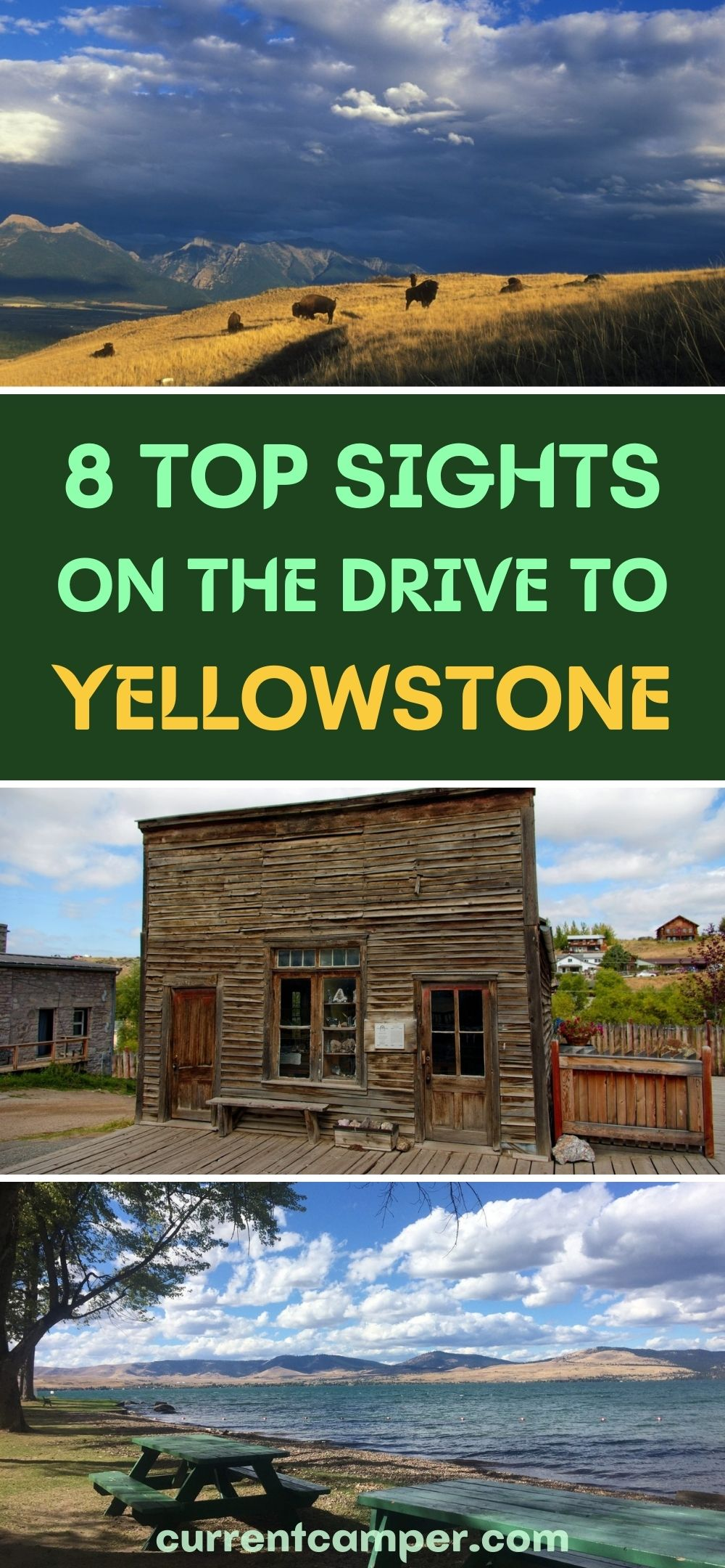 8 top sights on the drive to yellowstone national park