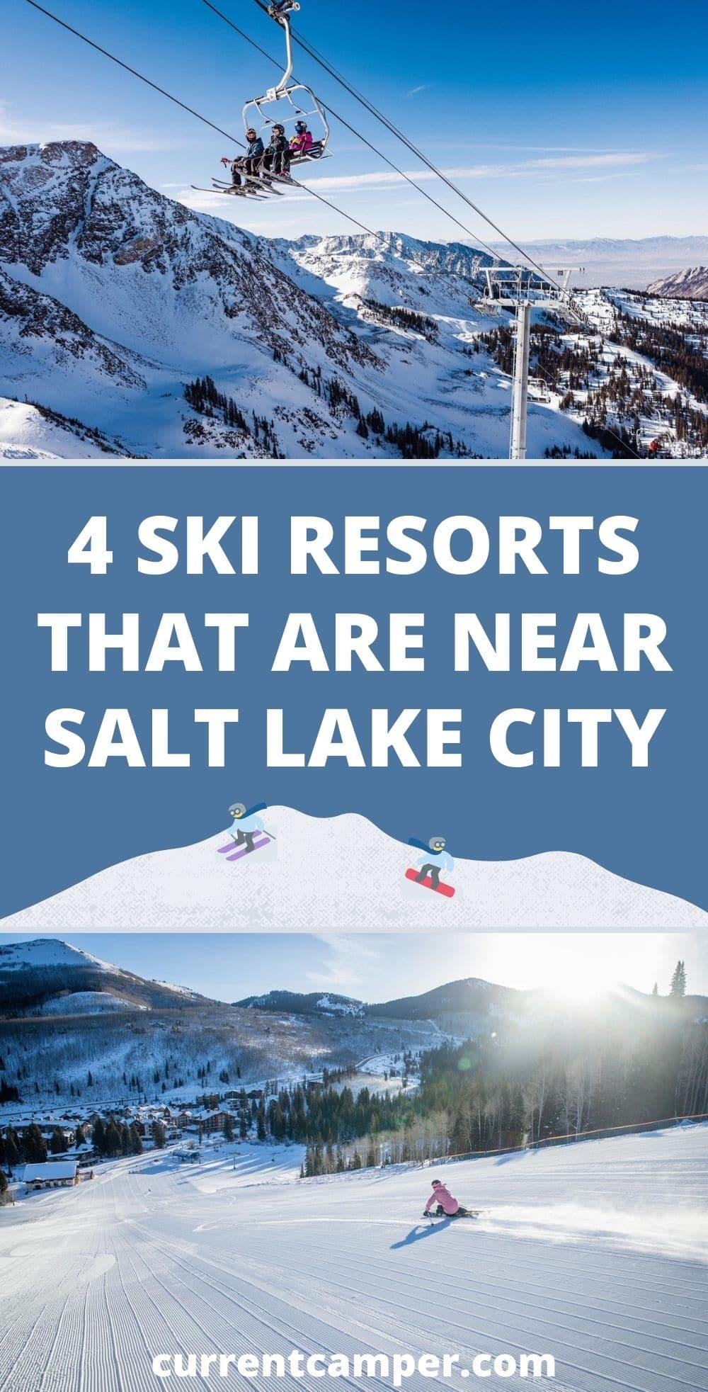 4 ski resorts near salt lake city, utah