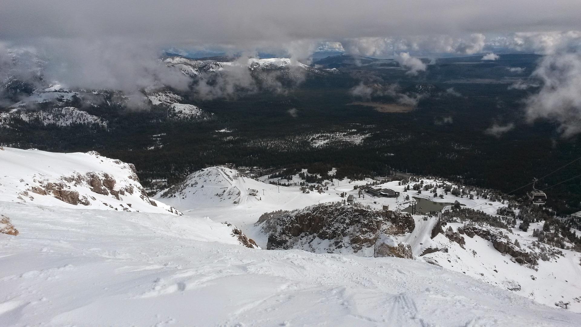 mammoth mountain summit snow winter pixabay