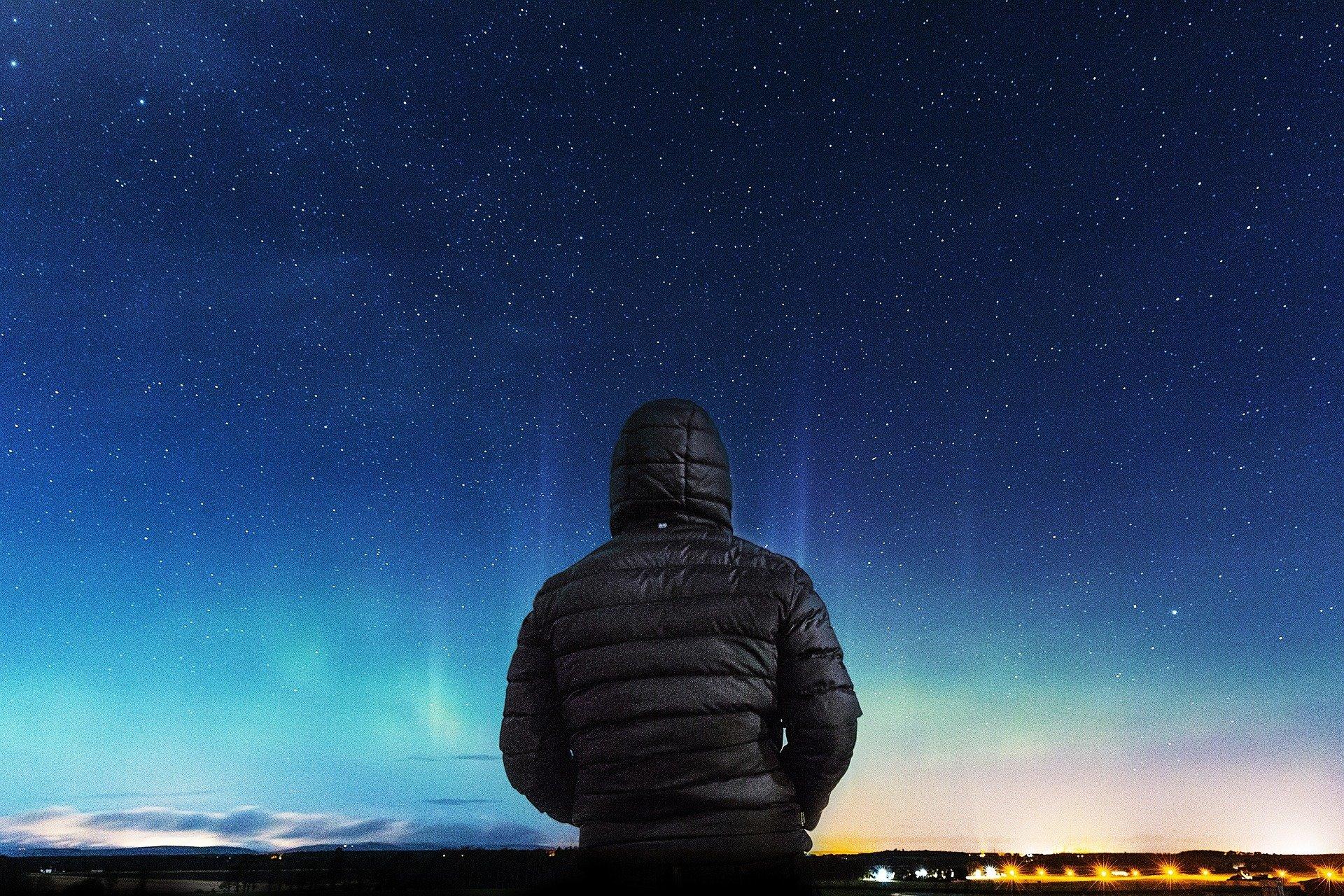 night sky northern lights coat pixabay