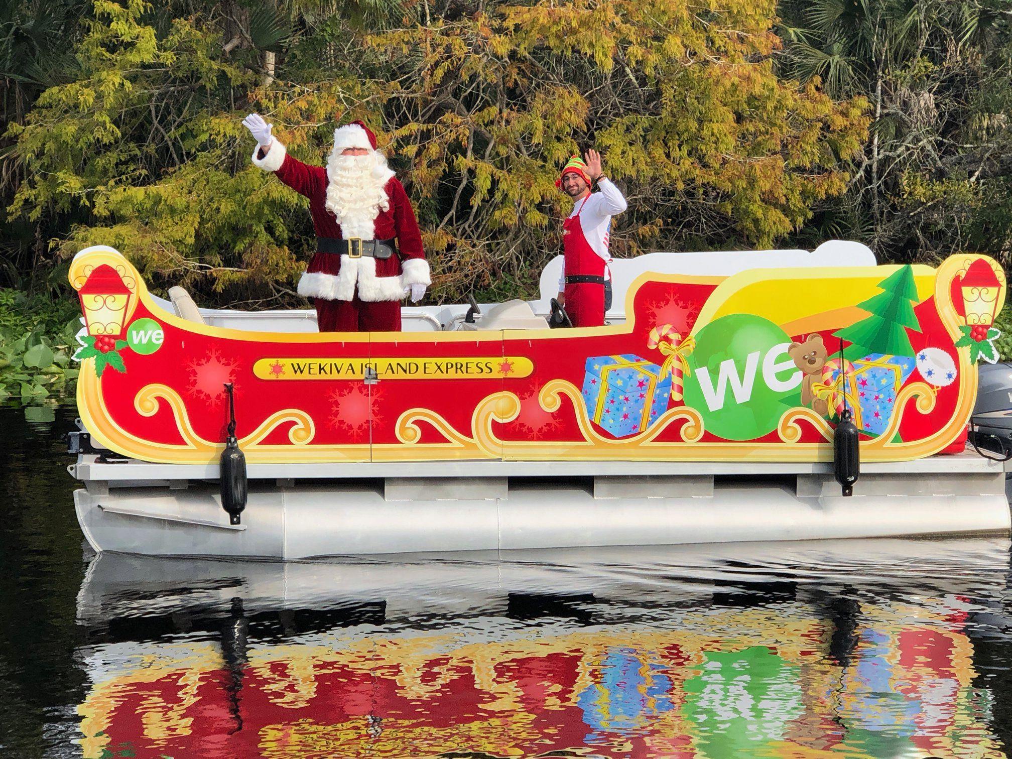sleigh ride wekiva river santa