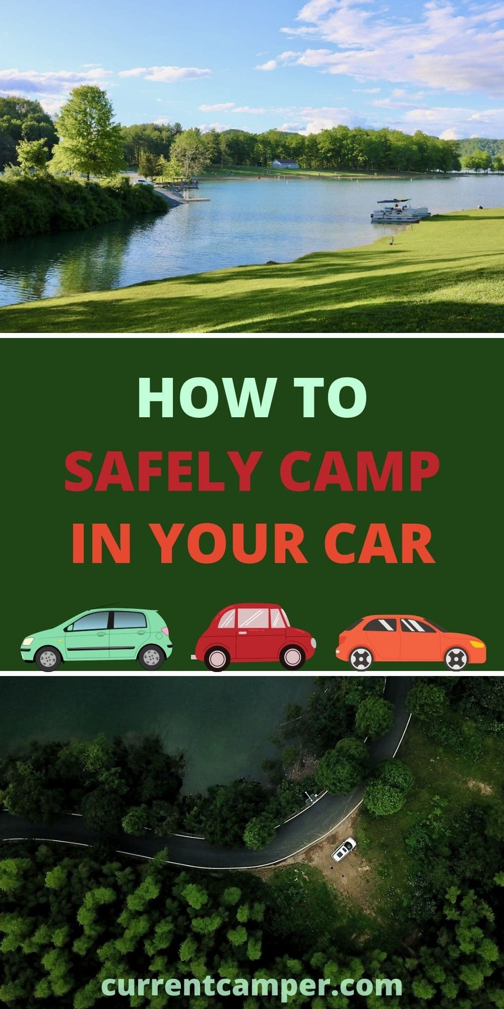 how to safely camp in your car pinterest