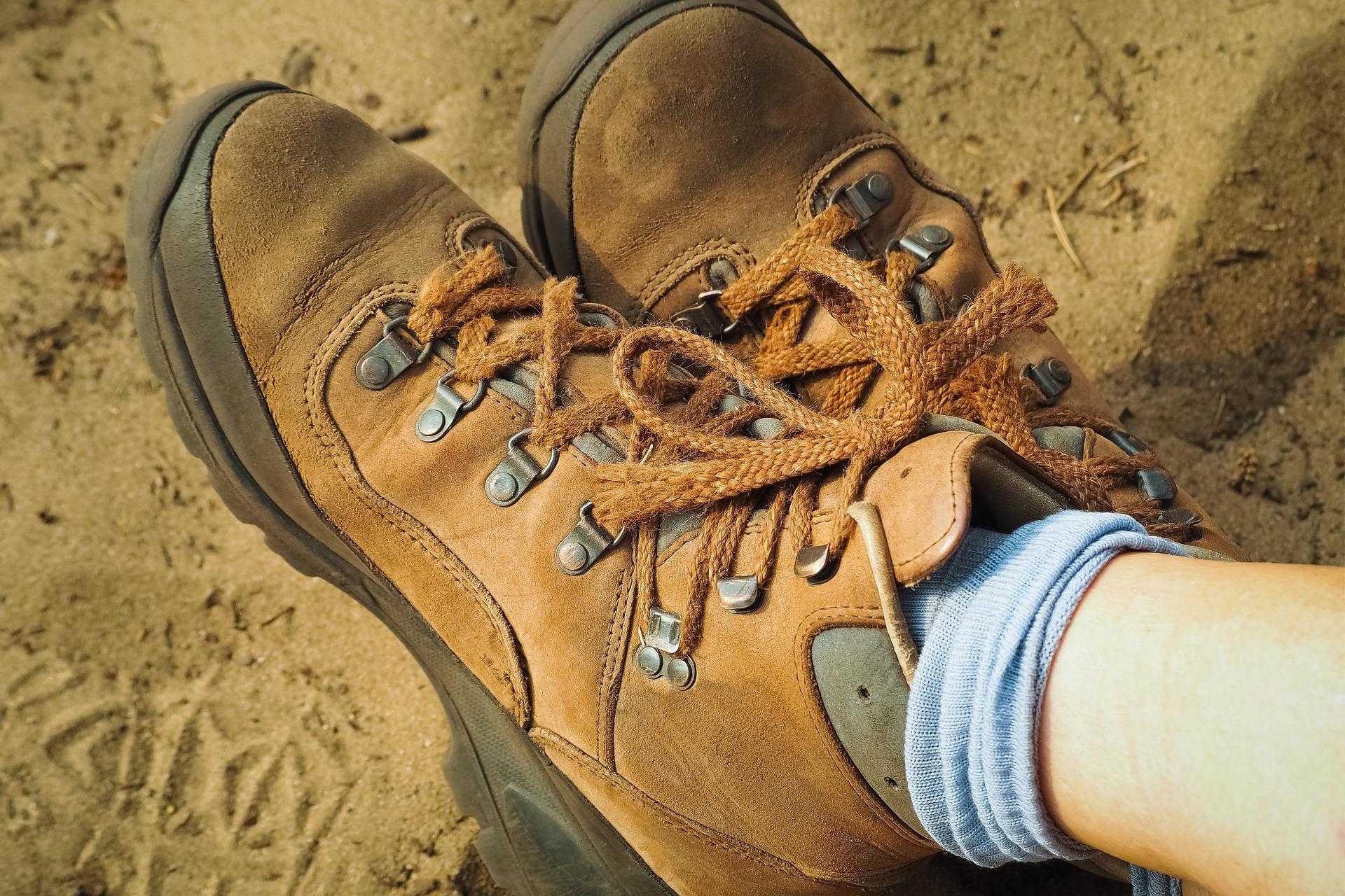hiking boots socks pixabay