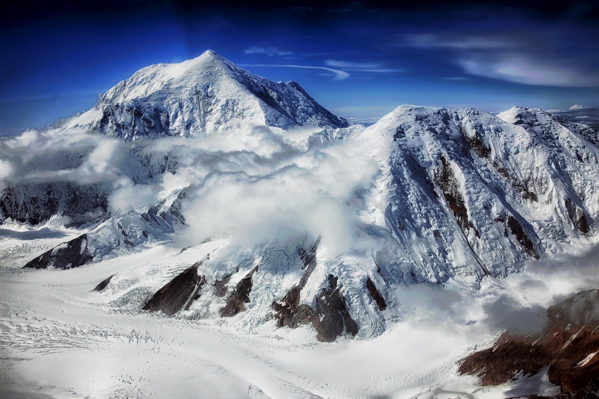 mount foraker alaska mountain snow pixabay