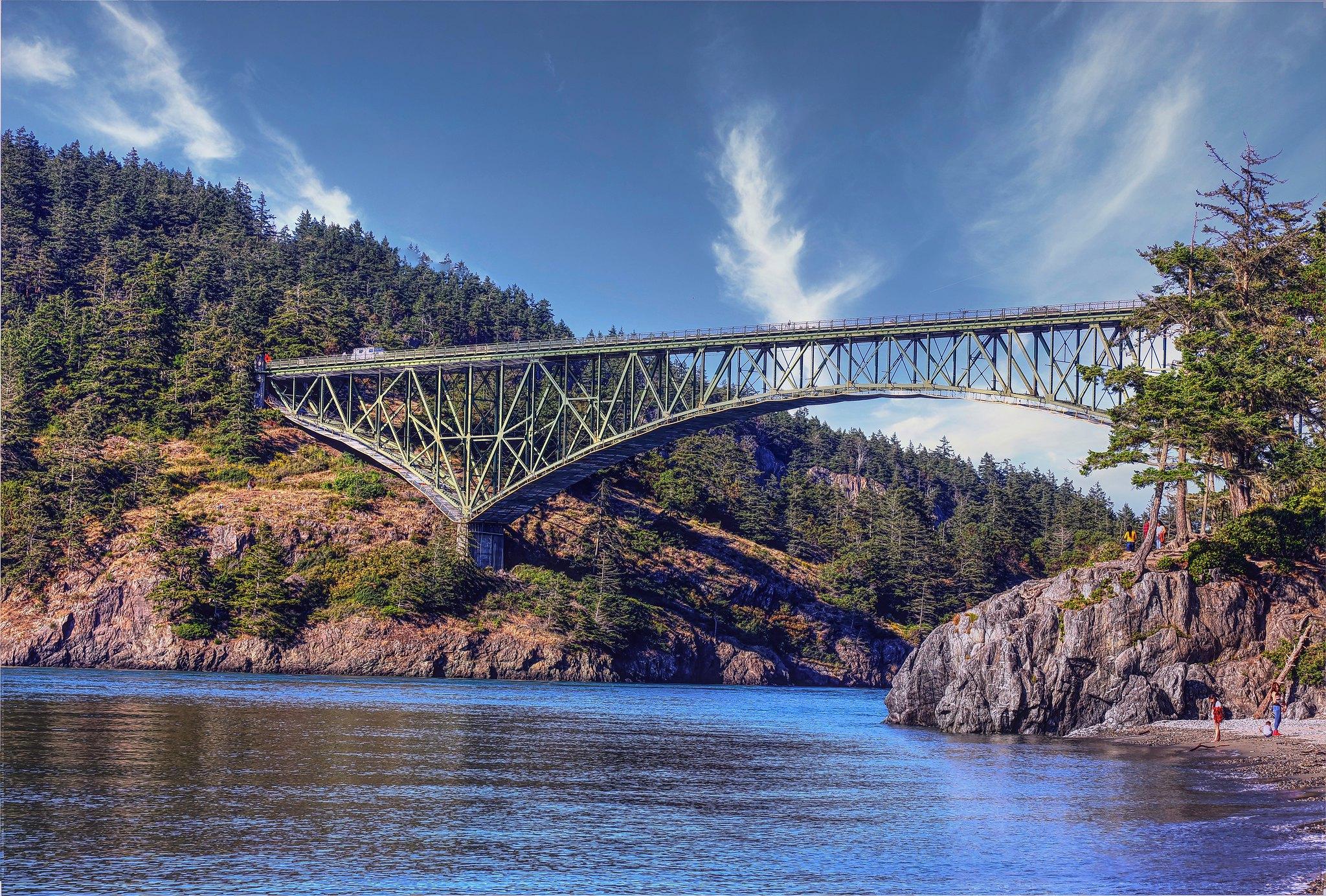 deception pass bridge washington pacific northwest