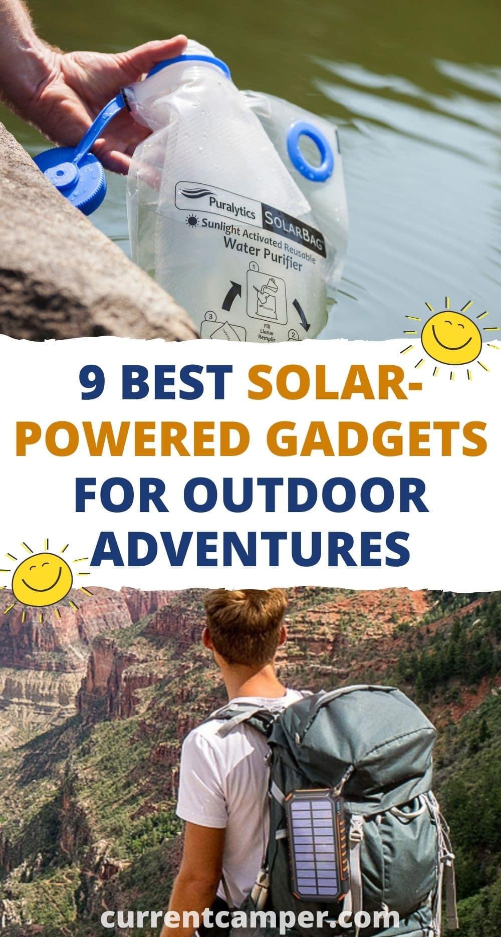9 best solar-powered gadgets for outdoor adventures