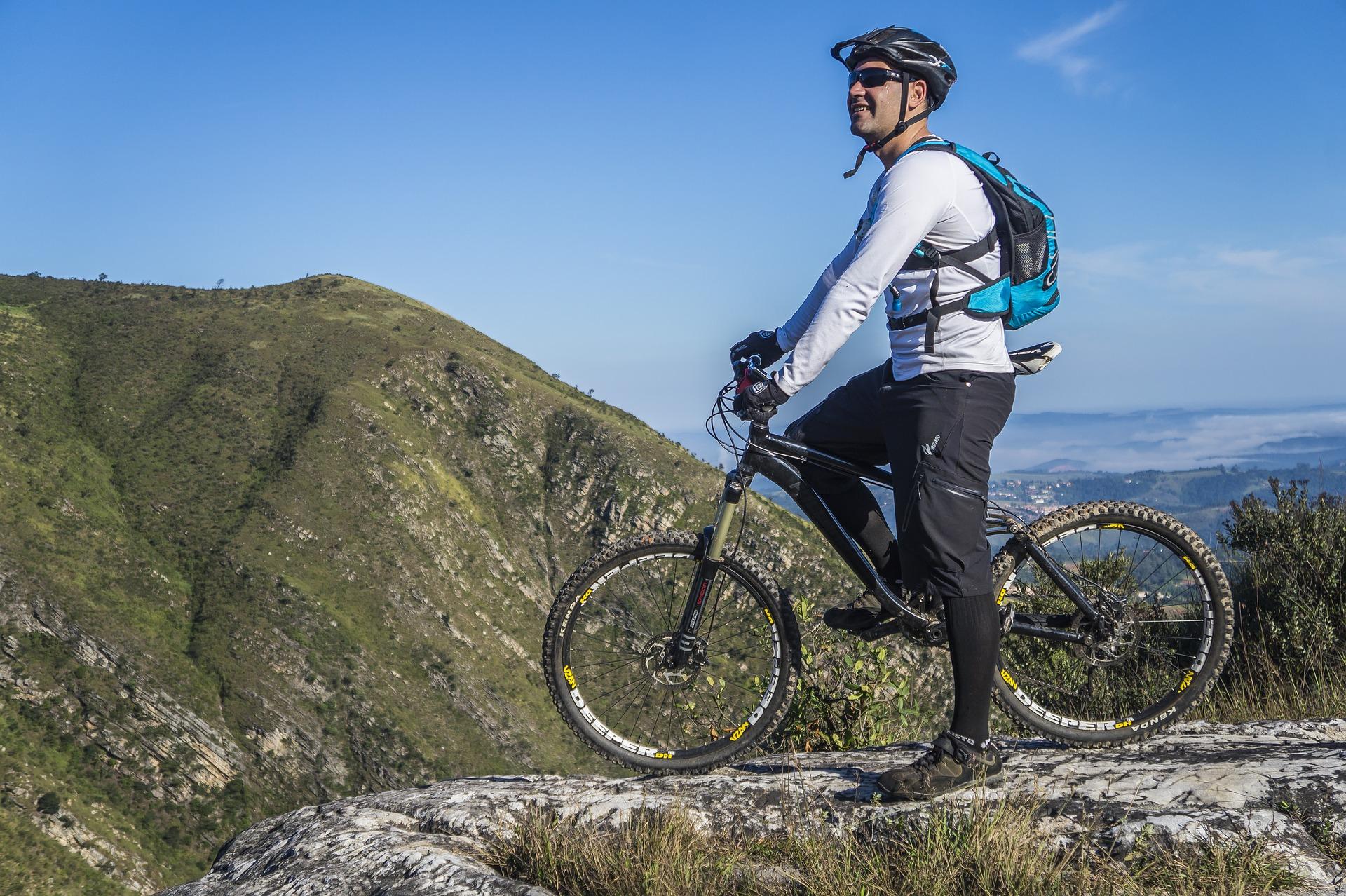 mountain biking helmet bicycle