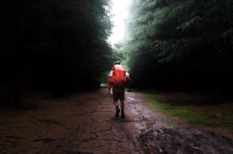 hiking rain backpacking