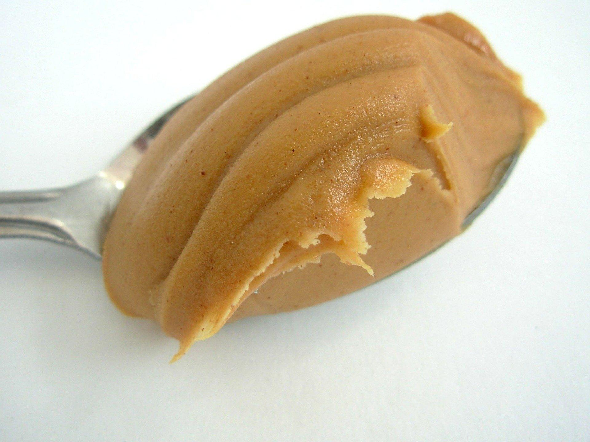 spoon of peanut butter