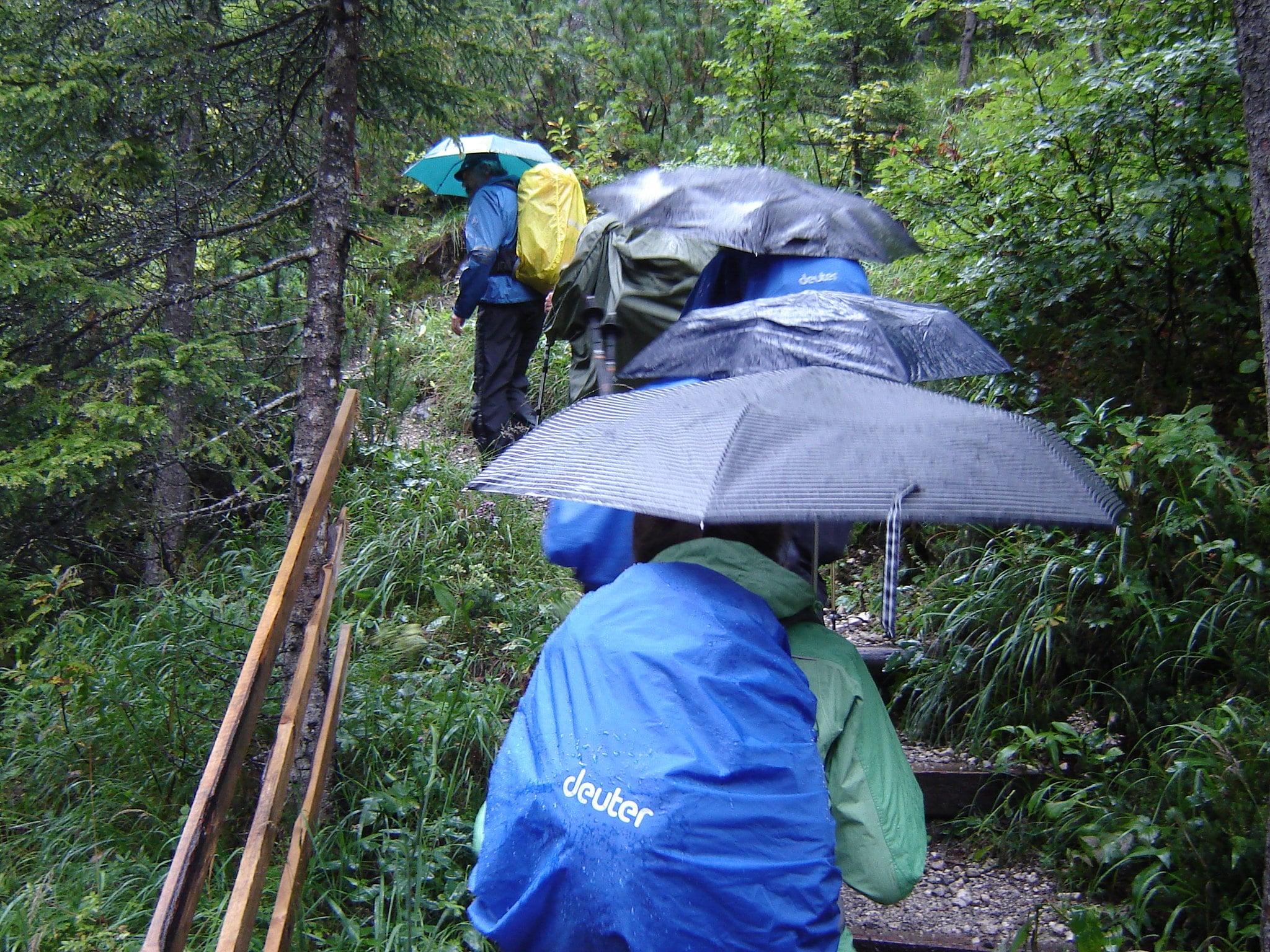 hike rain backpacking