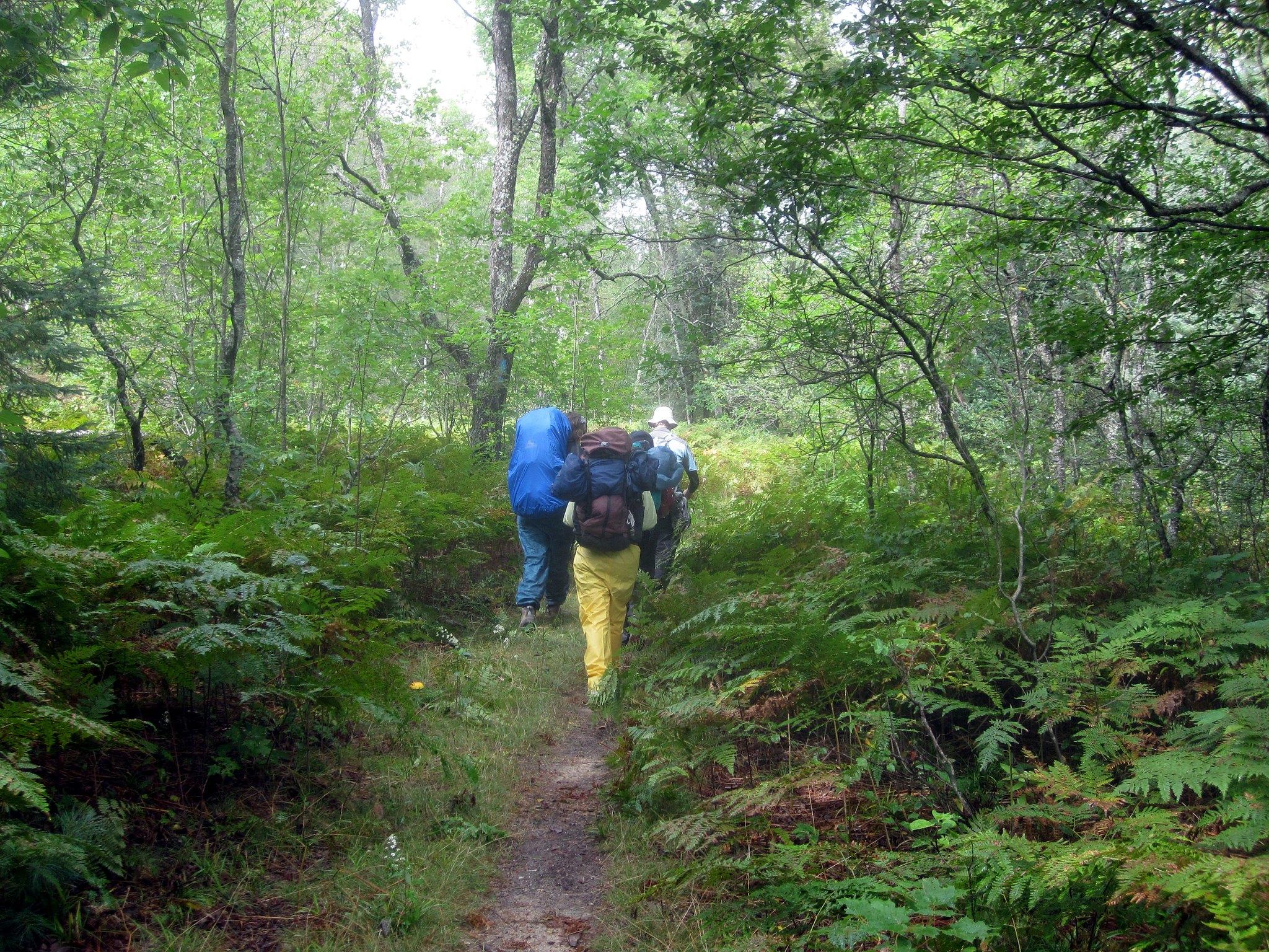 backpacking hiking rain