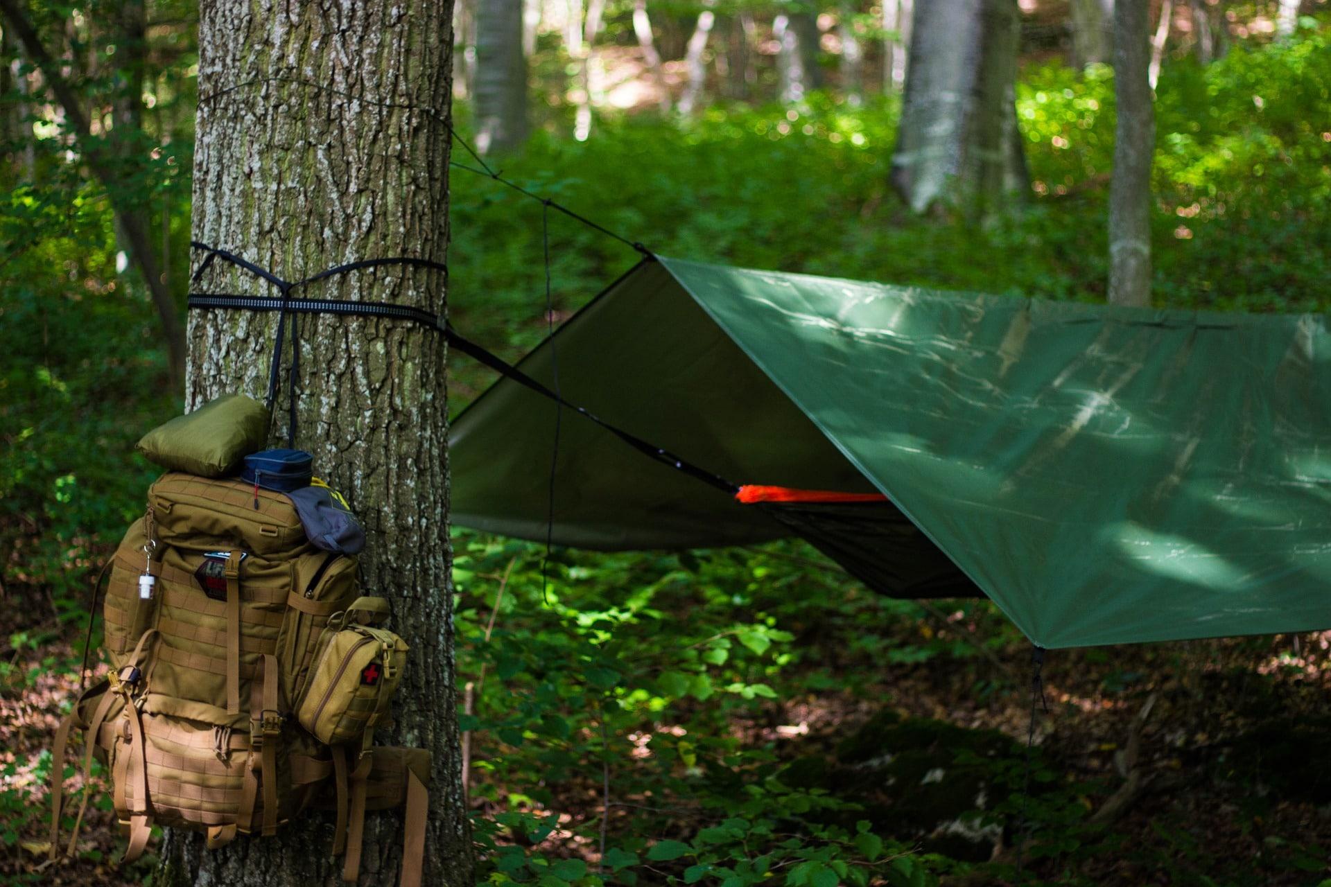 tarp hammock camping